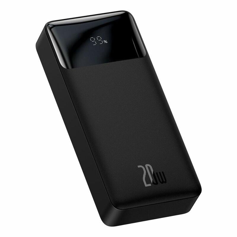 Baterie externa 20000mAh Baseus, 2xUSB, USB-C, Micro-USB, negru, PPDML-M01
