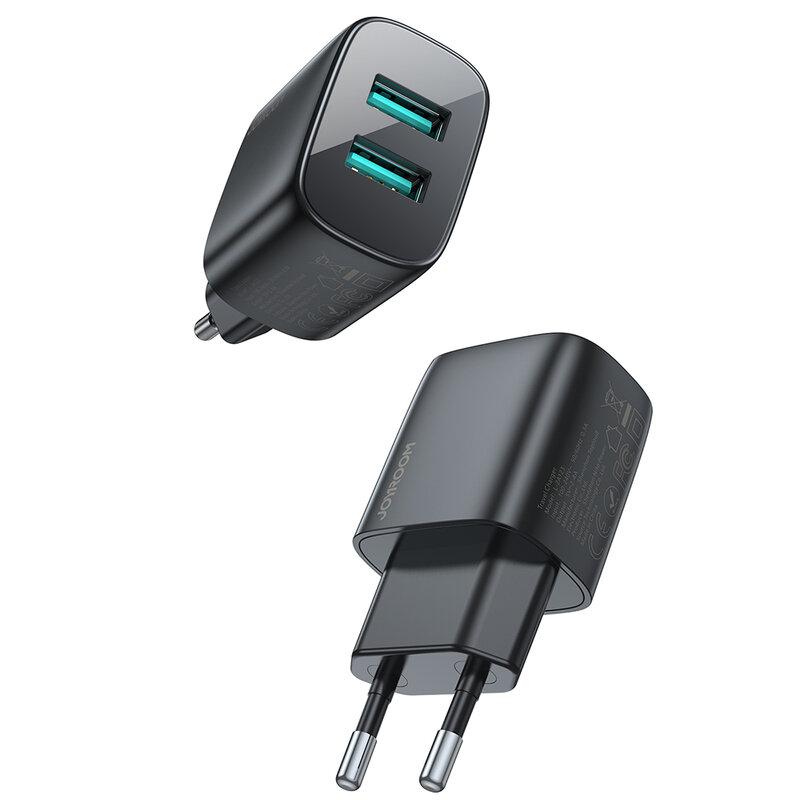 Incarcator universal JoyRoom, 2x USB, 12W, 2.4A, negru, L-2A123