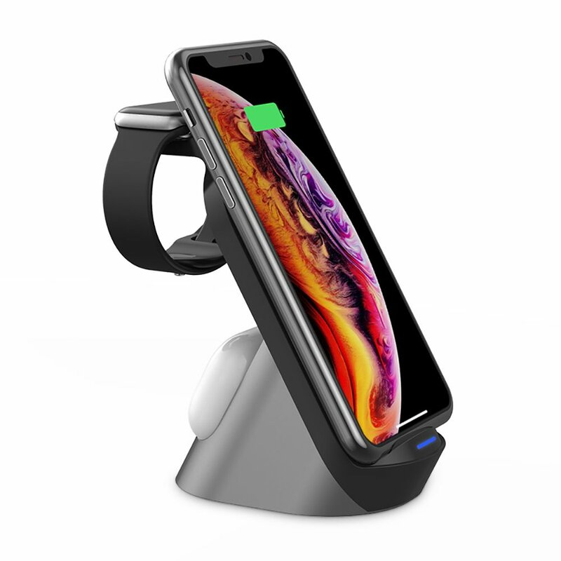 Statie incarcare wireless Apple Tech-Protect H18, Galaxy Buds, negru