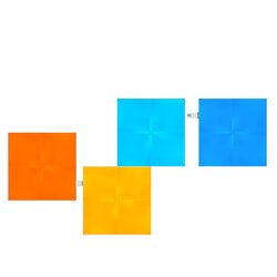 [Set 4x] Panouri luminoase modulare Nanoleaf Canvas, lumina RGBW