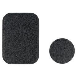 Placute metalice pentru suport magnetic telefon, piele premium, negru