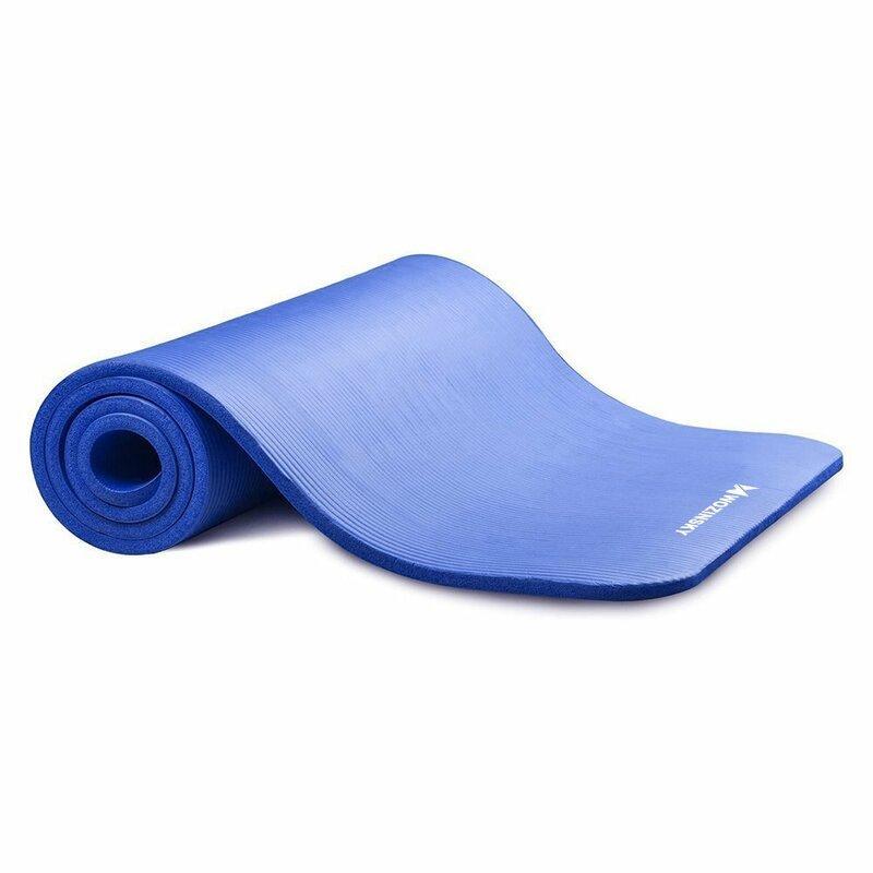 Saltea gimnastica, impermeabila, fitness, yoga, aerobic, pilates, albastru