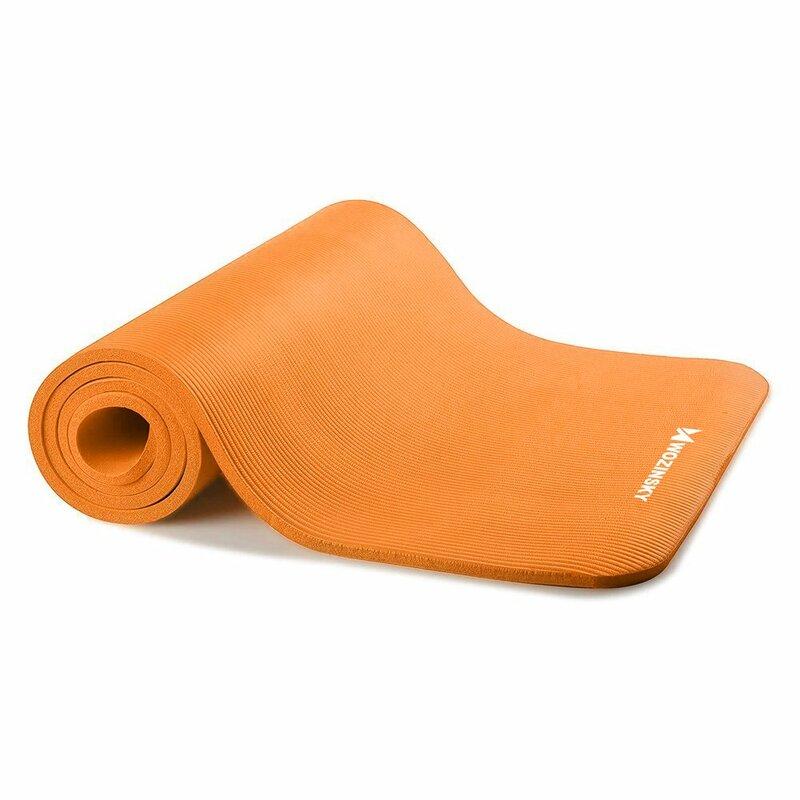 Saltea gimnastica, impermeabila, fitness, yoga, aerobic, pilates, portocaliu