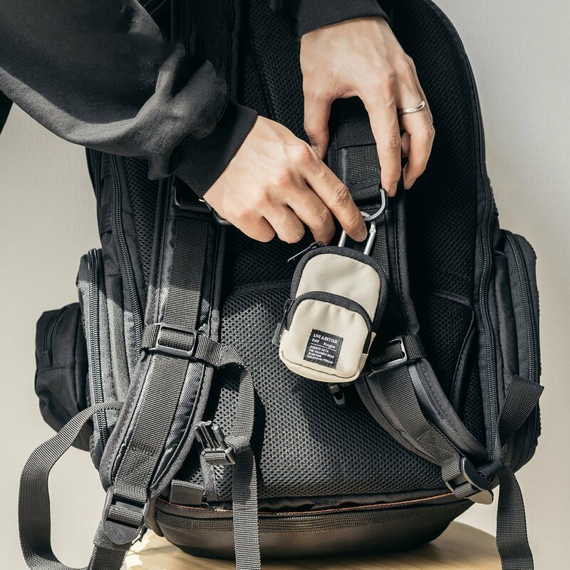 Gentuta earbuds universala Ringke Mini Pouch Two Pocket, bej