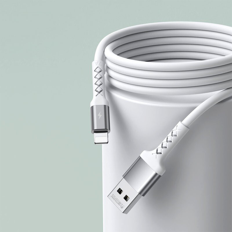 Cablu de date USB la Lightning Remax, 2.1A, 1m, negru, RC-161i