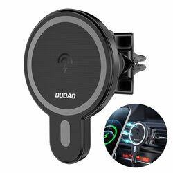 Incarcator auto wireless MagSafe iPhone 12 Dudao F13, 15W, negru