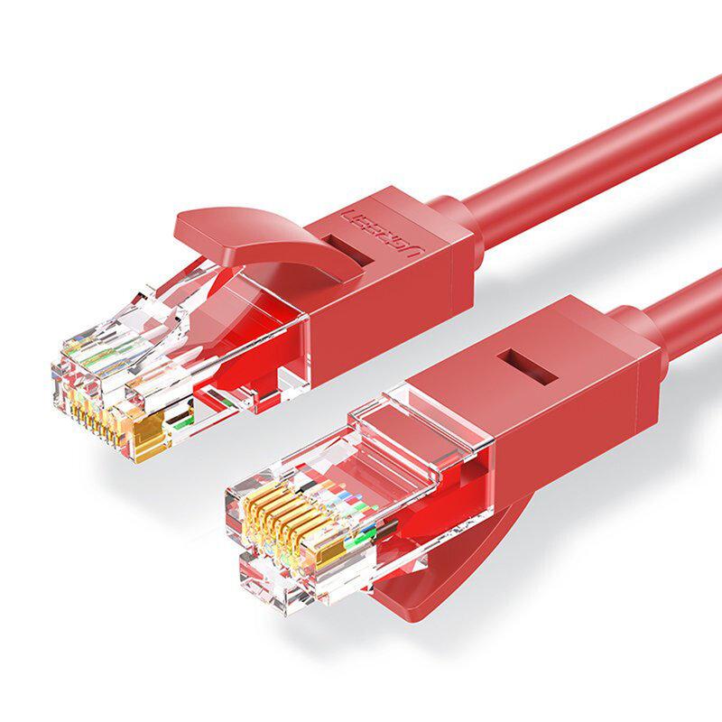 Cablu UTP Cat 6 RJ45 Ugreen, LAN 26 AWG, 1Gbps, 1m, rosu, 80829