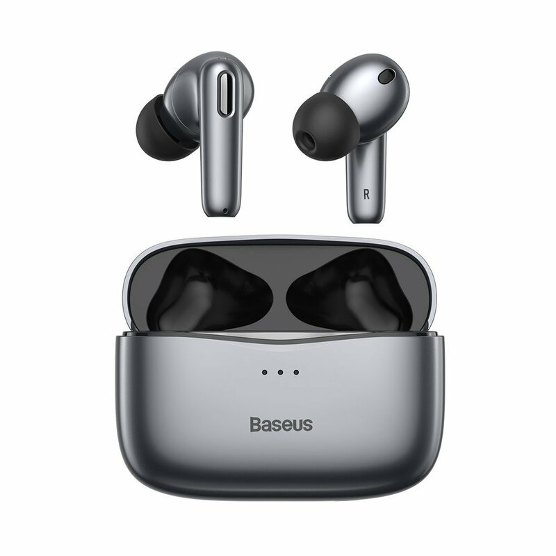 Casti wireless in-ear Baseus, Bluetooth earbuds, gri, NGS2-0G