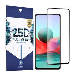 Folie sticla Xiaomi Redmi Note 10 Pro Max Lito 2.5D Full Glue, negru