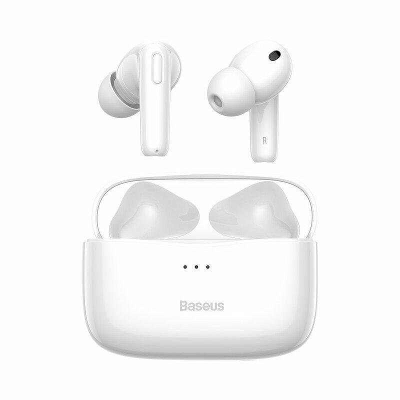 Casti wireless in-ear Baseus, Bluetooth earbuds, alb, NGS2-02