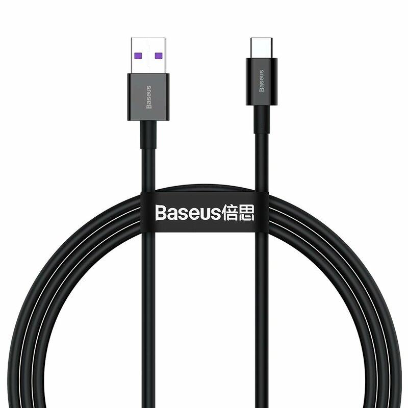 Cablu de date USB la Type-C Baseus, 66W, 1m, negru, CATYS-01