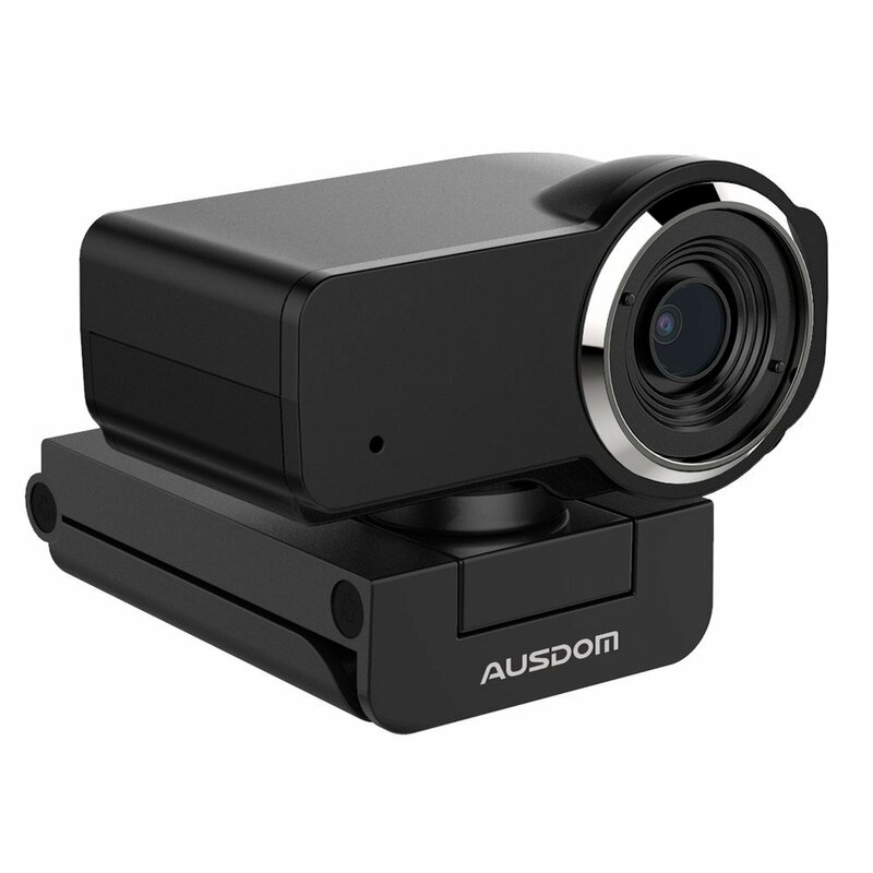 Camera web laptop cu microfon Ausdom AW635, Full HD 1080P, negru