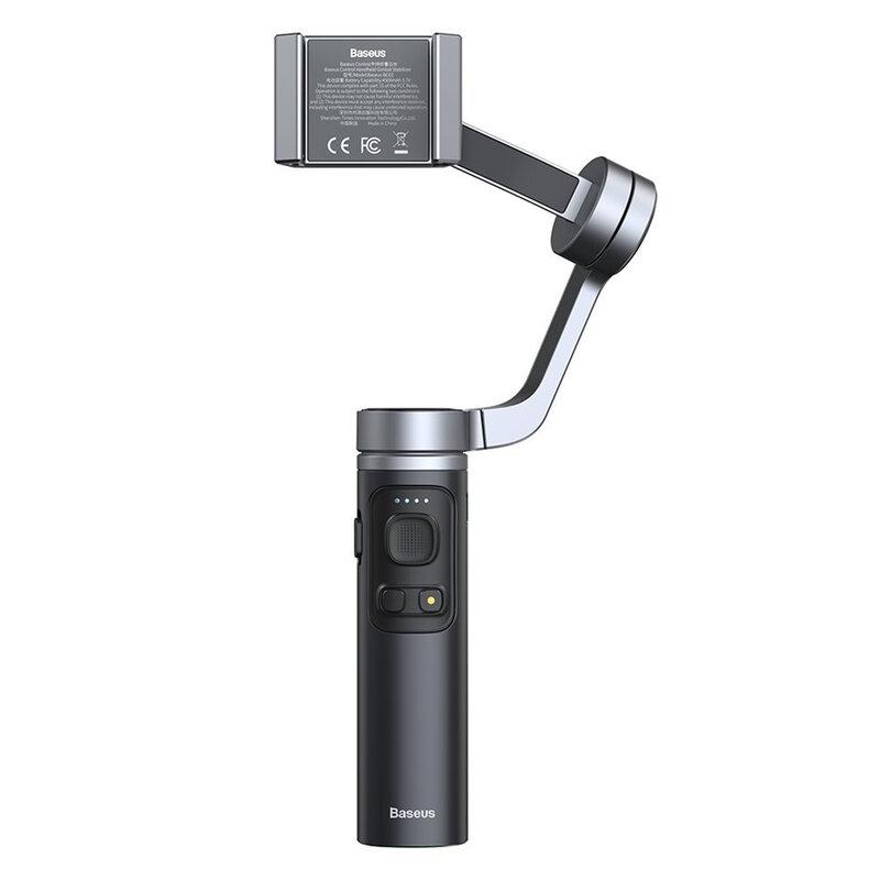 Stabilizator telefon Baseus, gimbal live streaming, gri, SUYT-D0G