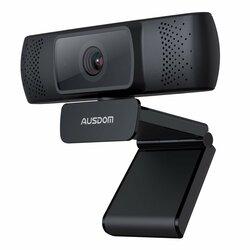 Camera web laptop cu microfon Ausdom AF640, Full HD 1080P, negru