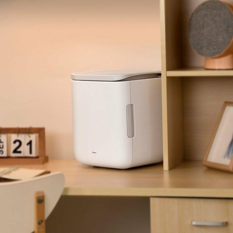 Mini frigider cosmetice/ bauturi Baseus, racire + incalzire, 6l, alb, ACXBW-A02