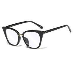 Ochelari cat eye dama cu protectie calculator impotriva luminii albastre, negru, F97394-C3