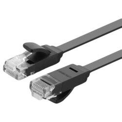 Cablu Patch cord Cat 6 Ethernet Ugreen, UTP, 1Gbps, 1m, negru, 50173