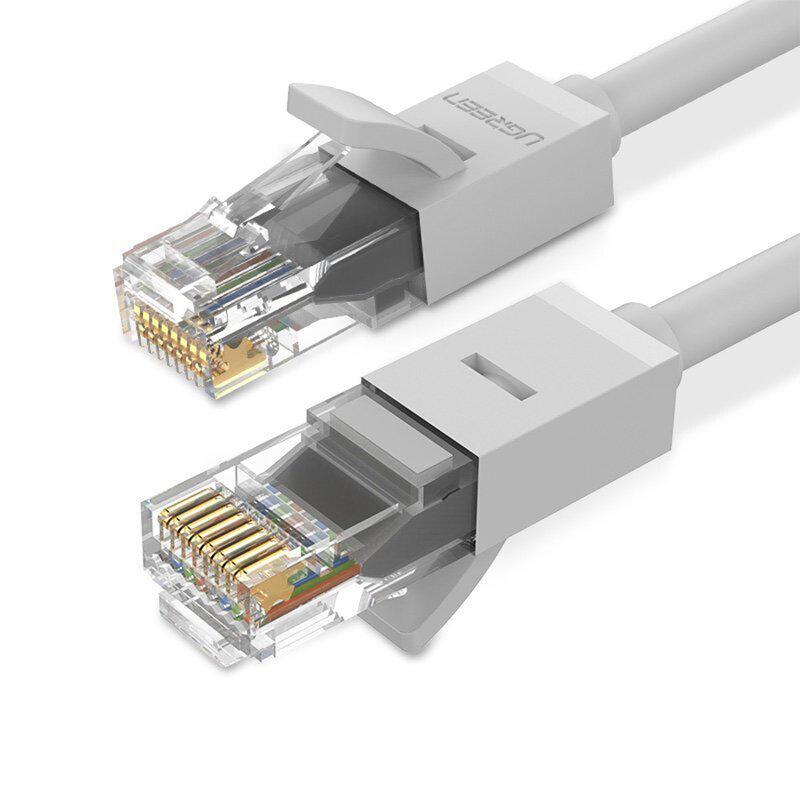 Cablu LAN UTP Cat 6 Ugreen, RJ45, 26 AWG, 1Gbps, 1m, gri, 20174