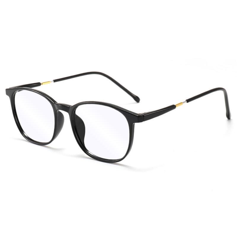 Ochelari rotunzi unisex protectie ecran cu filtru lumina albastra + UV, negru, F8509