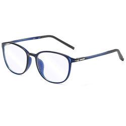 Ochelari rotunzi unisex protectie lumina albastra pentru calculator, albastru, F2822