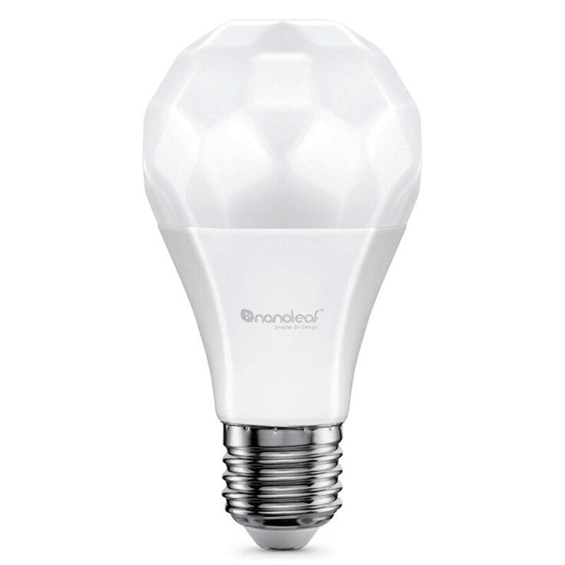 Bec LED inteligent Nanoleaf A60 E27, smart Wi-Fi, 9W, lumina RGBCW