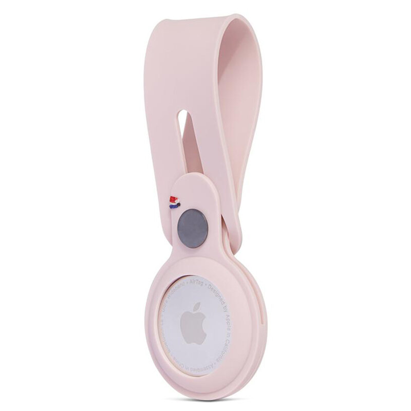 Husa Apple AirTag Decoded Silicone Loop tip breloc chei, roz
