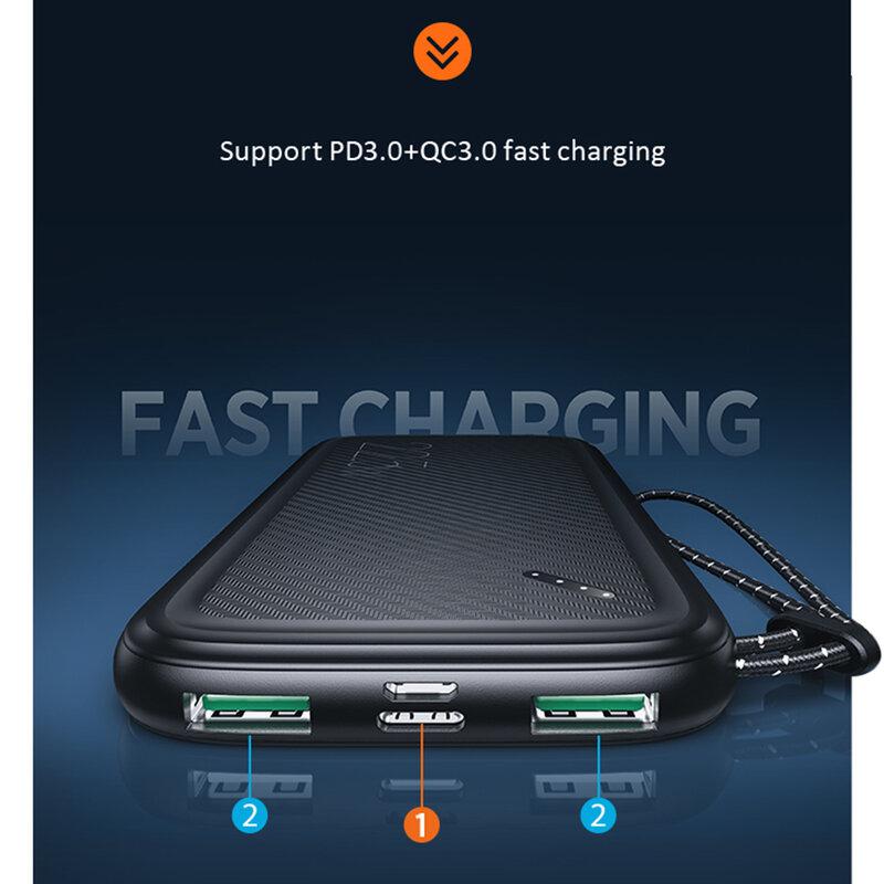 Baterie externa 10000mAh USAMS PB56, 2xUSB, USB-C, Micro-USB, negru, US-CD151