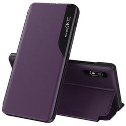 Husa Samsung Galaxy A10 Eco Leather View Flip Tip Carte - Mov