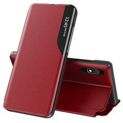 Husa Samsung Galaxy A10 Eco Leather View Flip Tip Carte - Rosu