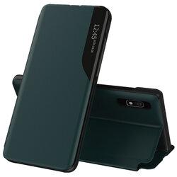 Husa Samsung Galaxy A10 Eco Leather View Flip Tip Carte - Verde