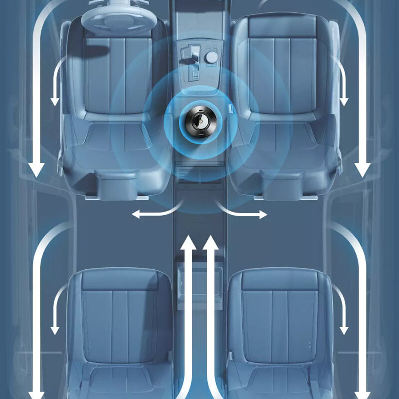 Odorizant auto electric cu ulei esential Remax, negru, RM-C47