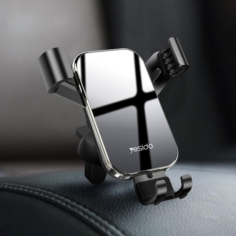 Suport telefon auto universal Yesido C87, grila ventilatie, negru