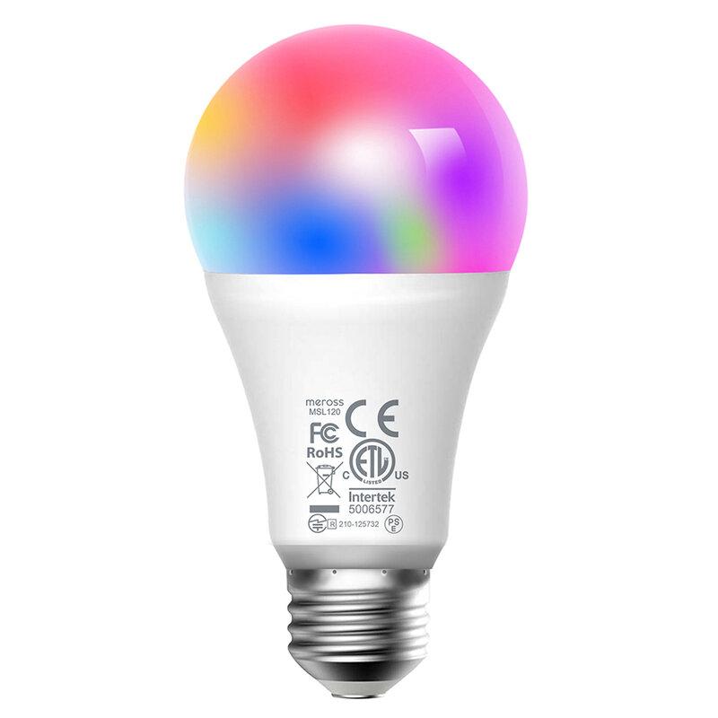 Bec inteligent Meross MSL120, smart Wi-Fi, 9W, lumina RGBCW
