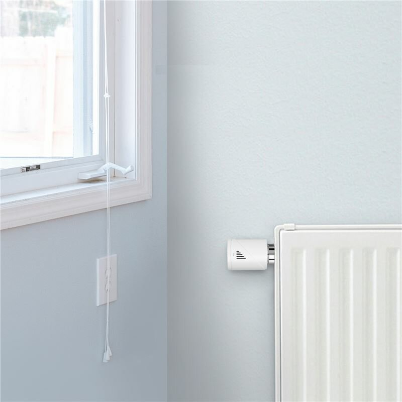 Robinet termostat calorifer smart Wi-Fi Meross MTS100, alb