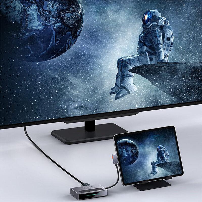 Hub USB-C la PD100W Baseus, HDMI, SD, TF, USB, Jack 3.5mm, CAHUB-DA0G