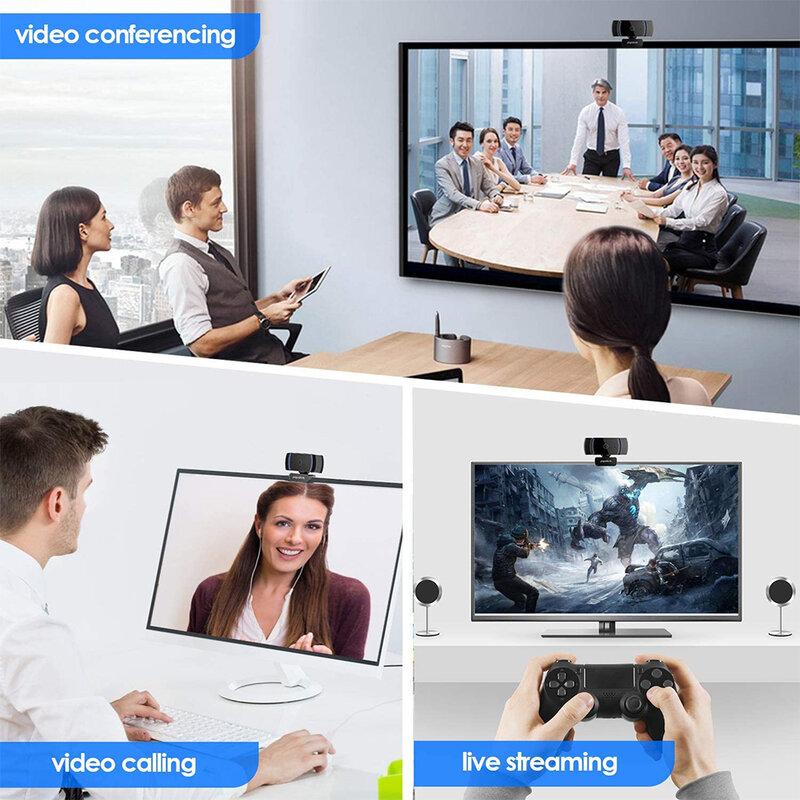 Camera web laptop cu microfon Papalook AF925, 1080P, negru