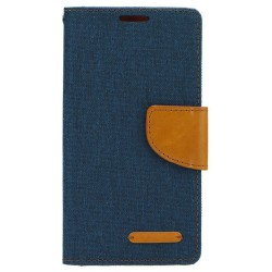Husa Huawei Honor 7 Book Canvas Bleu