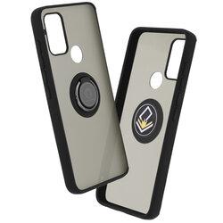 Husa Motorola Moto G50 Mobster Glinth Cu Inel Suport Stand Magnetic - Negru