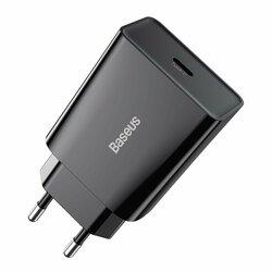 Incarcator priza USB-C Baseus, Quick Charge 20W, negru, CCFS-SN01