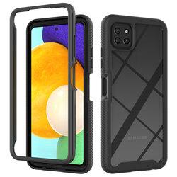 [Pachet 360°] Husa + Folie Samsung Galaxy A22 5G Techsuit Defense, negru