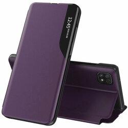 Husa Samsung Galaxy A22 5G Eco Leather View Flip Tip Carte - Mov