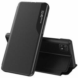Husa Samsung Galaxy A22 5G Eco Leather View Flip Tip Carte - Negru