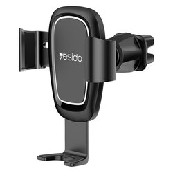 Suport telefon masina Yesido C71, prindere grila ventilatie, negru
