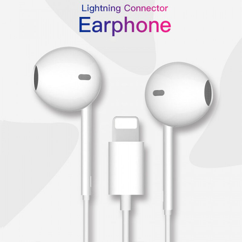 Casti iPhone in-ear cu fir Yesido YH20, stereo, Lightning, alb