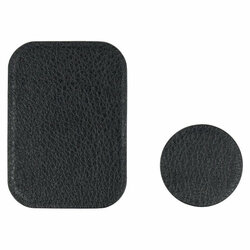 [Set 2x] Placuta metalica suport magnetic telefon Techsuit MP02, piele ecologica, negru