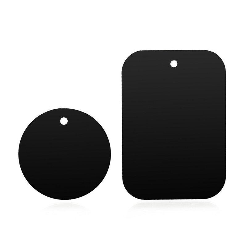 [Set 2x] Placuta metalica pentru suport magnetic telefon Techsuit MP03, negru