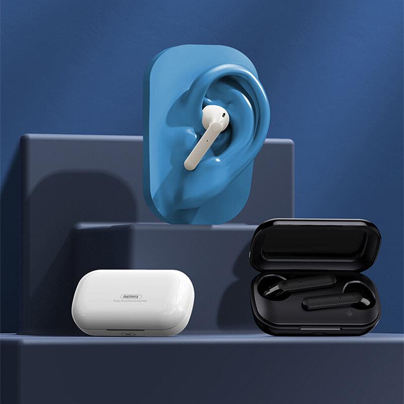 Casti wireless in-ear Remax, Bluetooth earbuds, alb, TWS-18
