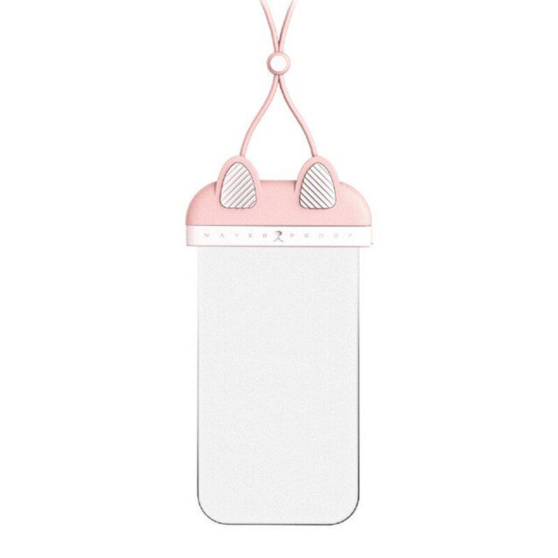 Husa subacvatica telefon Remax, carcasa waterproof, roz, RT-W4