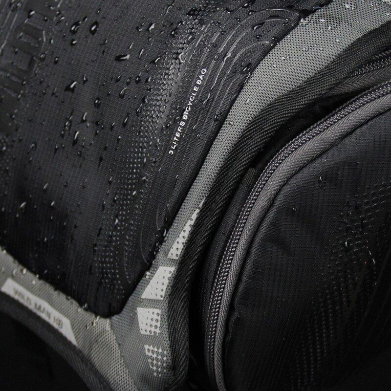 Geanta impermeabila ghidon bicicleta Wildman H8, 3l, negru