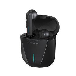 Casti telefon gaming earbuds WK Design ET-V9, TWS Bluetooth, negru